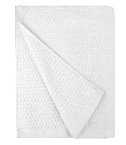 Diamond Jacquard Towels Bath Sheet Towel - 1 Piece, White