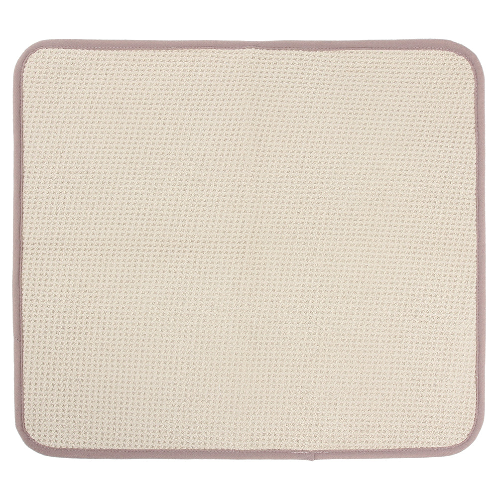 Recycled Honeycomb Microfiber Dish Drying Mat, Fossil