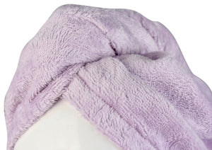 Extra Plush Bath Wrap + Hair Turban Set - Mulberry