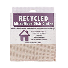 Recycled Honeycomb Dish Cloths w/ Mesh Scrub for Kitchen, 3-Pack Towels, Fossil