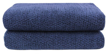 Diamond Jacquard Towels Bath Sheet - 2 Pack, Navy Blue