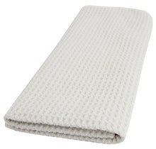 Recycled Honeycomb Dish Towel for Kitchen, White