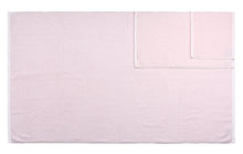Diamond Jacquard Towels, 6 Piece Bath Sheet Towel Set, Pale Pink