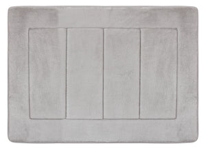 Activated Charcoal Memory Foam Bath Mat in Silver, 17 x 24 in