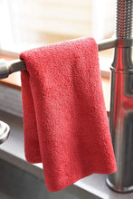 Commercial Grade Microfiber Cleaning Cloths, 12 Pack - Red for Bathroom & Sanitation Surfaces