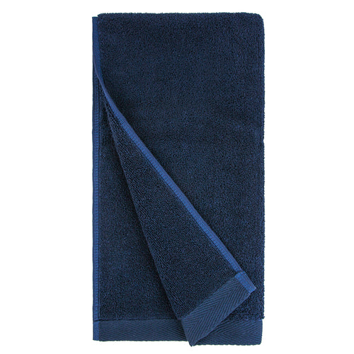Flat Loop Hand Towels - 4 Pack, Navy Blue