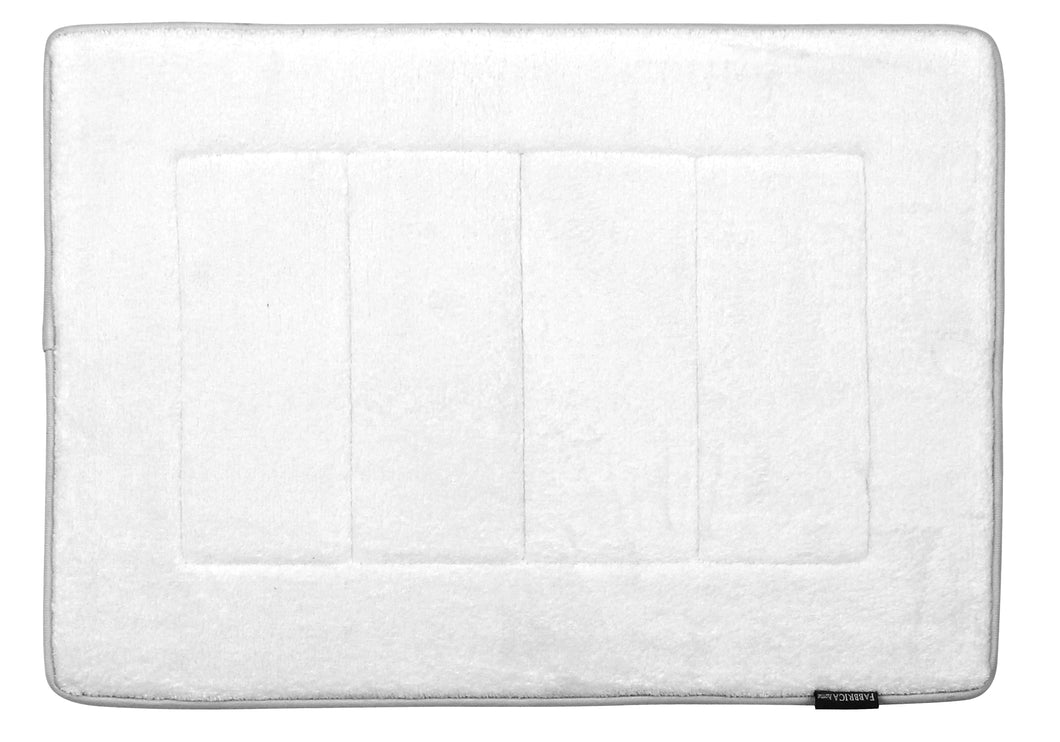 Memory Foam Bath Mat in White, 17 x 24 in