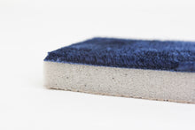 Activated Charcoal Memory Foam Bath Mat in Navy Blue, 17 x 24 in