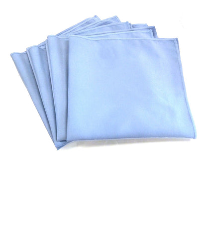 Commercial Grade Microfiber Glass Cloths, 12 Pack - Blue
