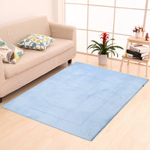 Memory Foam Area Rug, 40 x 64 in, Sky Blue