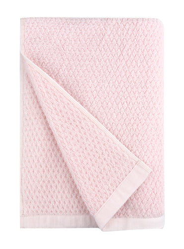 Diamond Jacquard Towels, Bath Towel - 1 Piece, Pale Pink