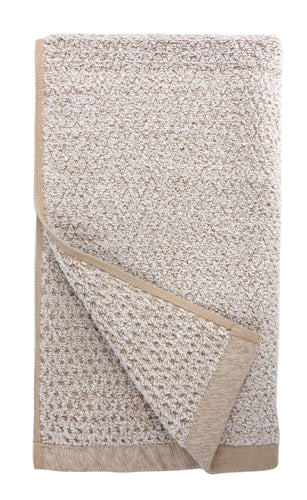Diamond Jacquard Hand Towels - 4 Pack, Khaki (Light Brown)