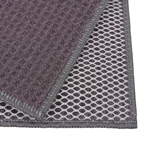 Recycled Honeycomb Dish Cloths w/ Mesh Scrub for Kitchen, 3-Pack Towels, Charcoal