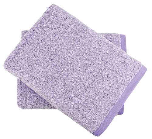Diamond Jacquard Towels Bath Sheet - 2 Pack, Lavender