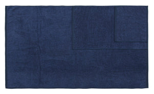 Diamond Jacquard Towels 6 Piece Bath Towel Set, Navy Blue Recycled