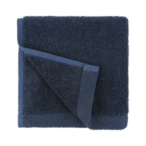 Flat Loop Washcloths - 6 Pack, Navy Blue