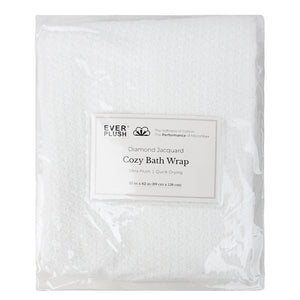 Cozy Bath Wrap Towel - White, (M-L)