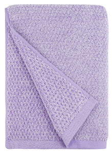 Diamond Jacquard Towels, Bath Towel - 1 Piece, Lavender