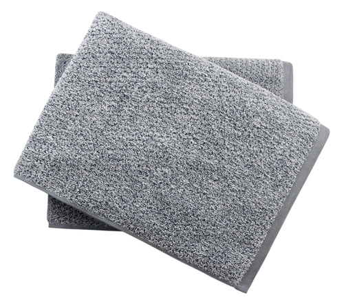Diamond Jacquard Towels Bath Sheet - 2 Pack, Dusk (Grey Blue)