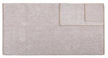 Diamond Jacquard 6 Piece Bath Sheet Towel Set, Khaki (Light Brown)