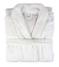 Diamond Jacquard Bathrobe, XS-SM, White