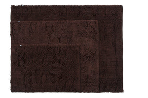 Chenille Area Rug, 36 x 47 in, Coffee Brown