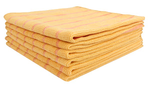 Utility Cloth with Scrubbing Strips, Set of 6(Yellow)