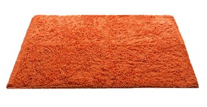Chenille Area Rug, 36 x 47 in, Orange