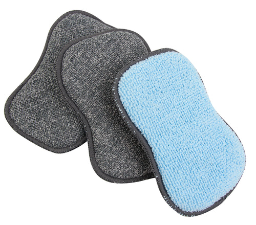 Microfiber Foaming Scrubby Sponges 3 Pack