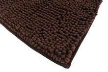 Chenille Accent Rug, 18 x 28 in, Coffee Brown