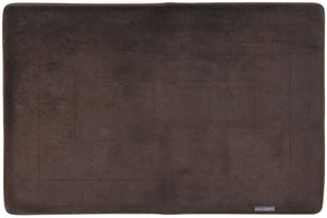 Memory Foam Area Rug, 40 x 64 in, Coffee Brown