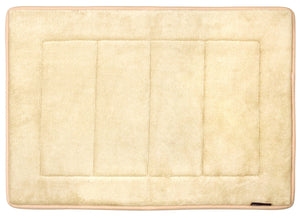 Memory Foam Bath Mat in Tan, 17 x 24 in