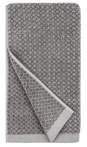everplush hand towel light grey dark grey granite quick dry towel