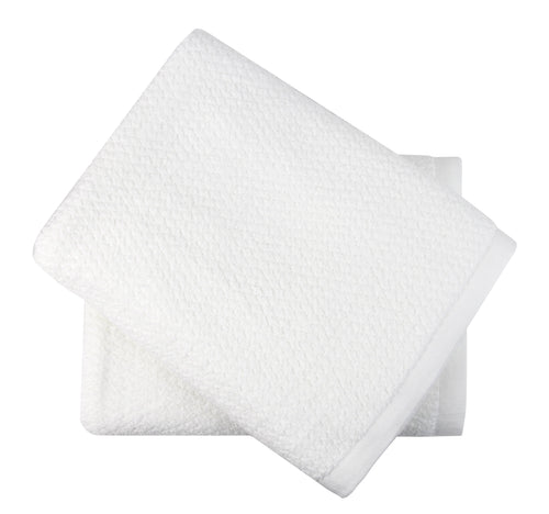 Diamond Jacquard Towels, Bath Towel - 2 Pack, White