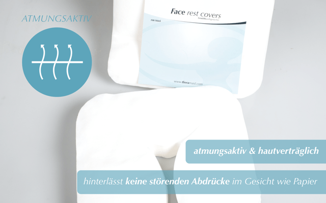 Face Rest Covers - Maße 28 x 35 cm - Theramaid