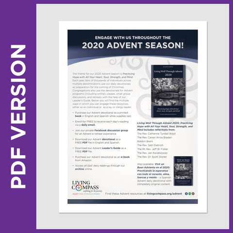 Living Well Through Advent 2020 Offerings Promotional Flyer (PDF FILE)