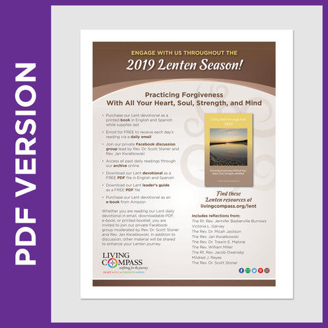 Lent 2019 Offerings Promotional Flyer (PDF FILE)