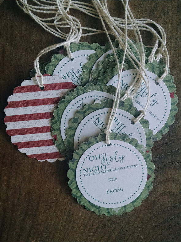 Oh Holy Night Gift Tags - Coffee Stained Tag Company