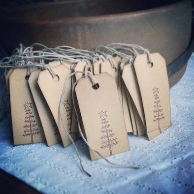 Little Twig Tree Gift Tags - Coffee Stained Tag Company