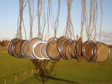 Large Metal Rim Tags - Coffee Stained Tag Company