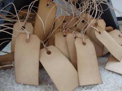 Traditional Stained Hang Tags, size 1 - Coffee Stained Tag Company