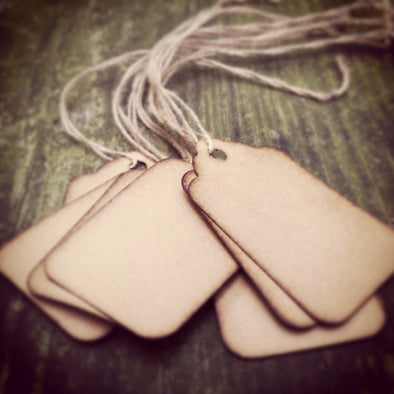 Small Scalloped Hang Tags - Coffee Stained Tag Company