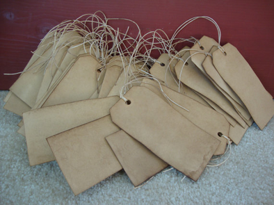 Traditional Stained Hang Tags, size 5 - Coffee Stained Tag Company