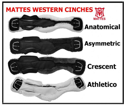 EA Mattes Lambskin Cinch Girth