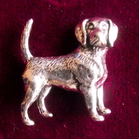 Hunting Pewter Hound Brooch Pin