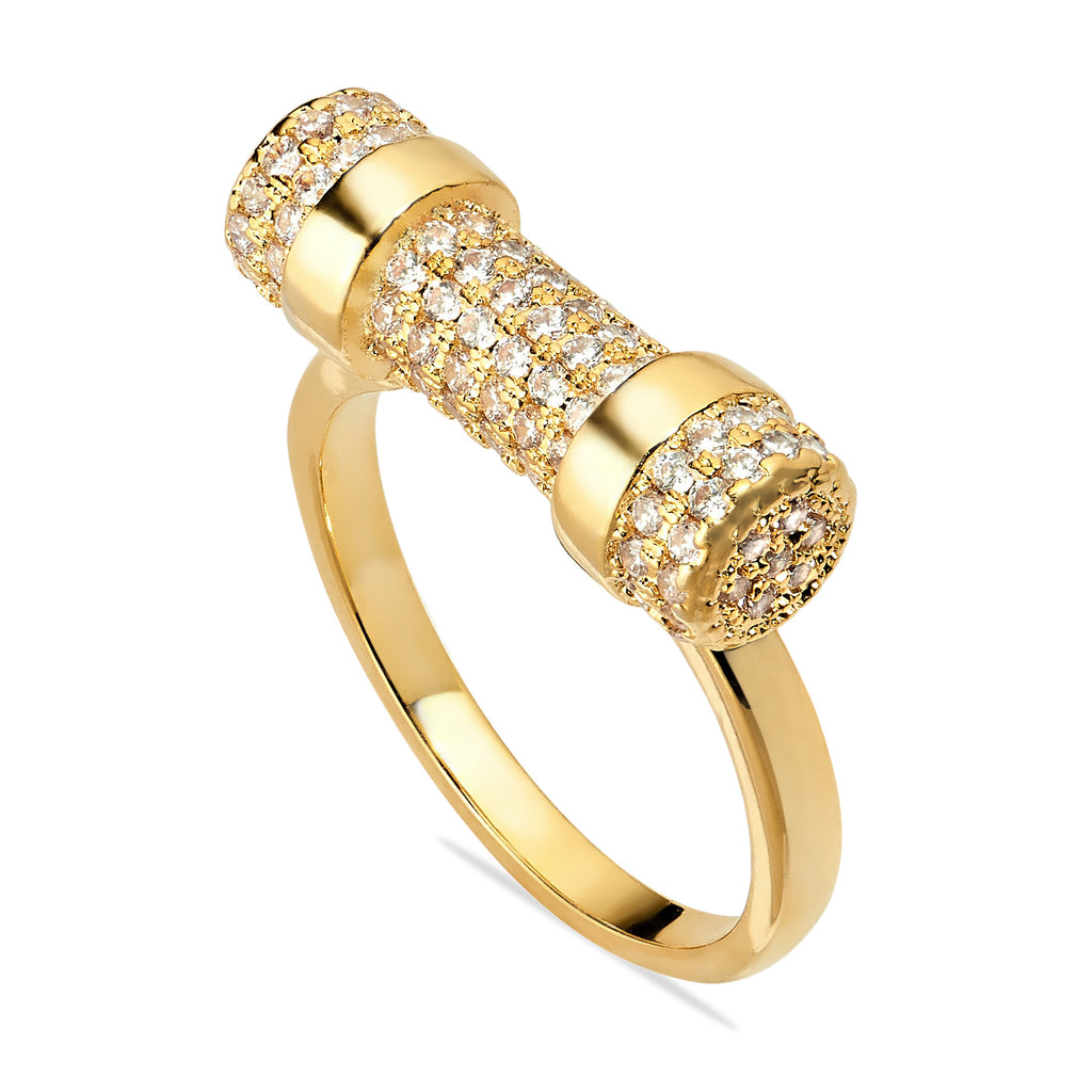 GOLD PAVÉ D RING