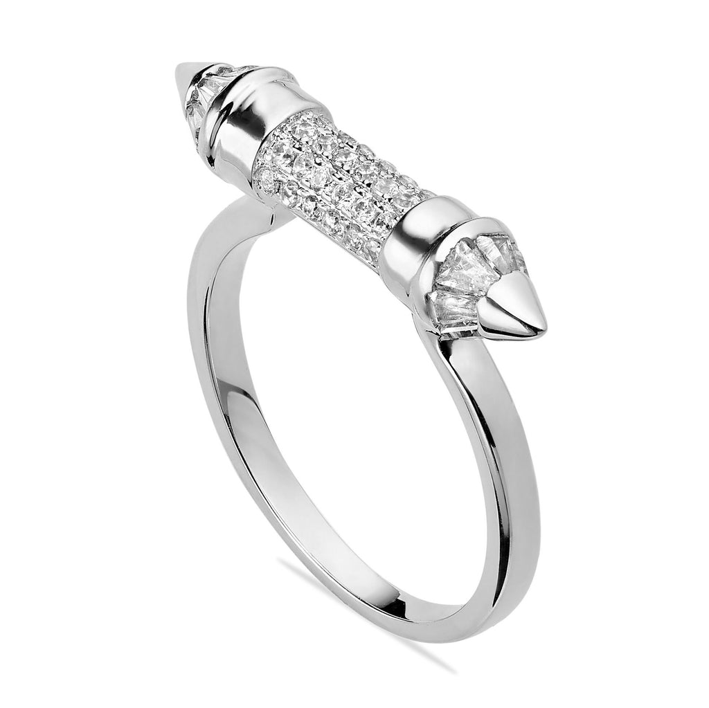 SILVER POINTED RING