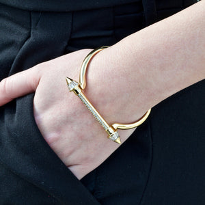 Gold Pointed Screw Cuff Bracelet - Opes Robur