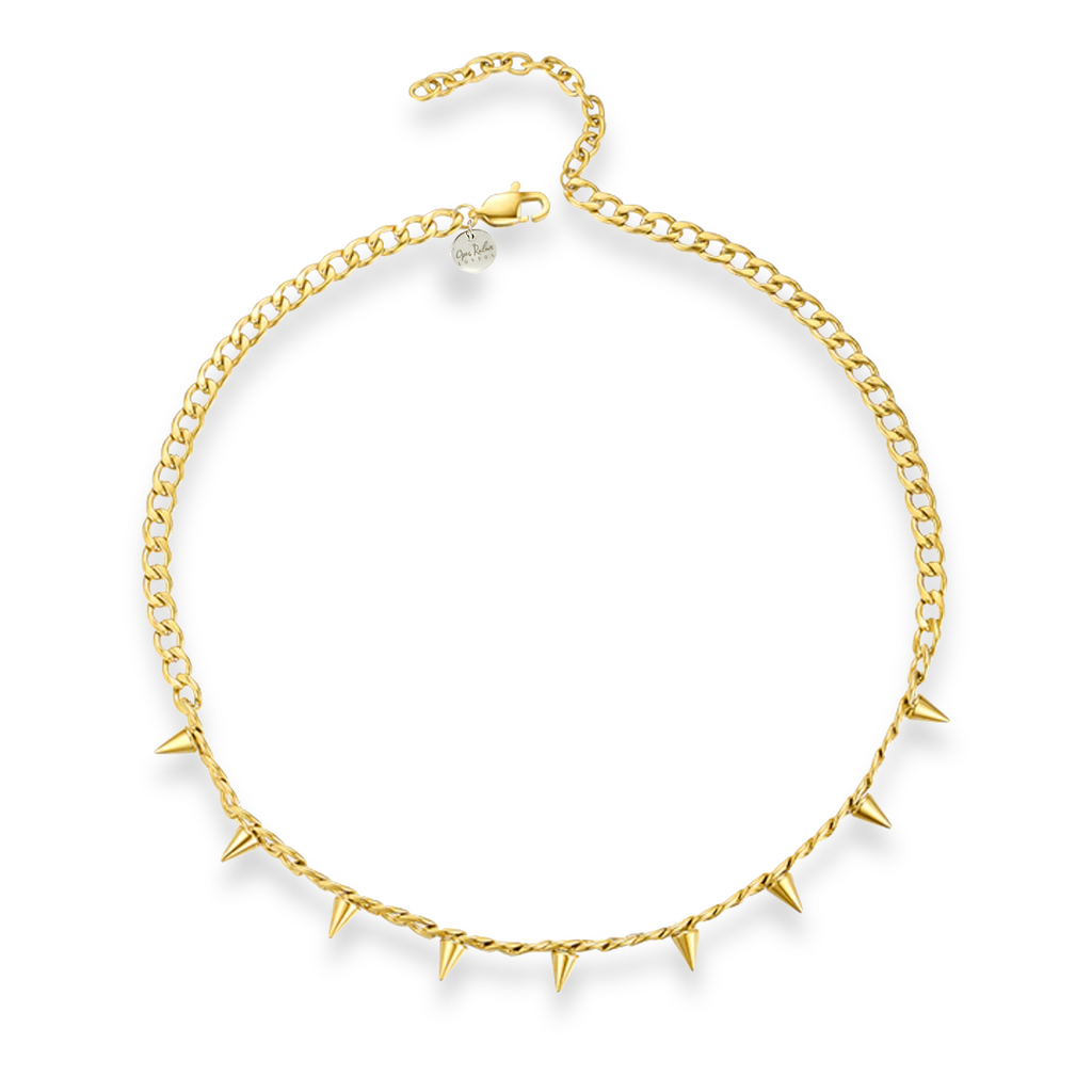 GOLD STUDDED CHAIN