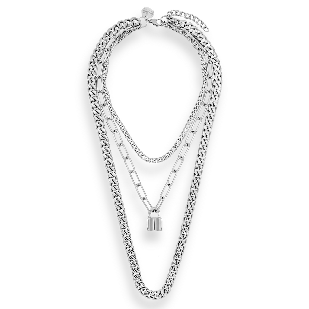 SILVER TRIPLE LAYER CHAIN